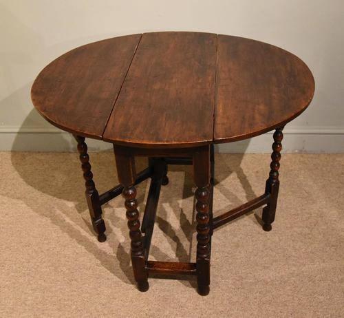 Late 17th Century Elm Drop Leaf Table (1 of 5)