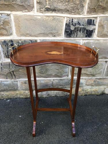 Antique Inlaid Mahogany Tray Top Table (1 of 10)