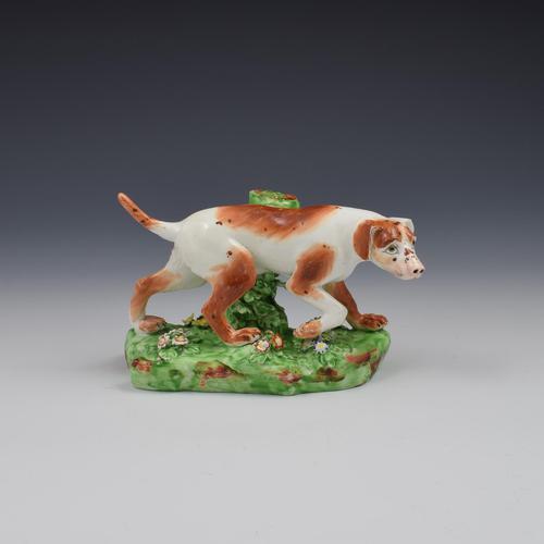 Fine Derby Porcelain Figure Model of Pointer Dog c.1800 (1 of 12)