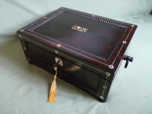 Inlaid Rosewood Jewellery Box c.1835 (1 of 10)