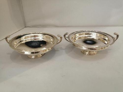 Pair of Art Deco Period Silver Low Tazzas (1 of 7)