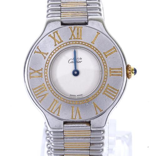 Ladies Stainless Steel Must De Cartier Quartz Wristwatch (1 of 5)