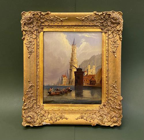 After Clarkson Stanfield - Very Interesting Small Oil Painting on Panel (1 of 5)