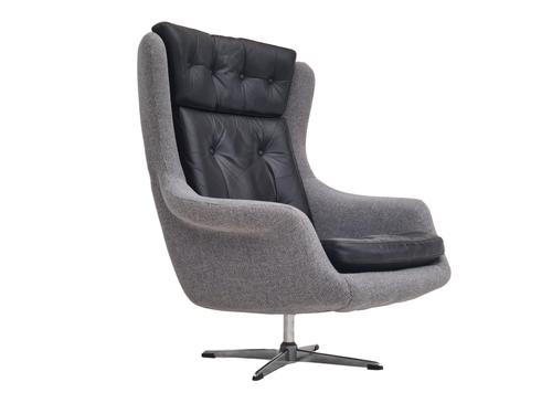 1970s, Restored Danish High-backed Armchair, H.W.Klein for Bramin (1 of 14)