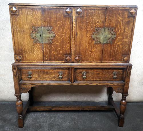 Golden Oak Cocktail Cabinet / Sideboard (1 of 8)