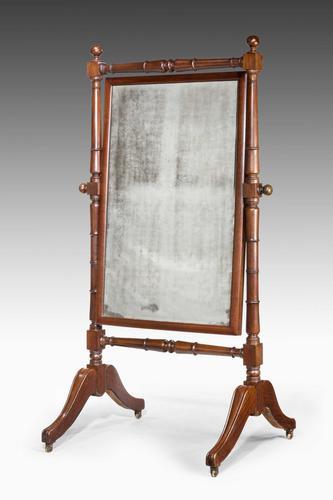 Regency Period Mahogany Cheval Mirror (1 of 3)