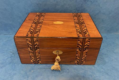 Victorian Walnut Inlaid Jewellery Box (1 of 12)