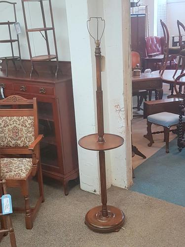 Edwardian Oak Lamp (1 of 5)