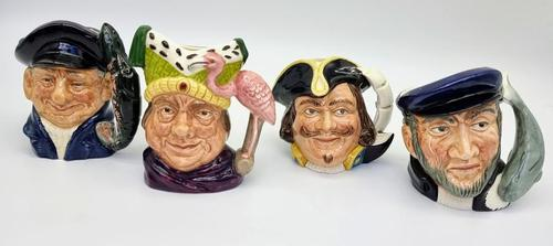 Four Small Royal Doulton Toby Jugs (1 of 16)