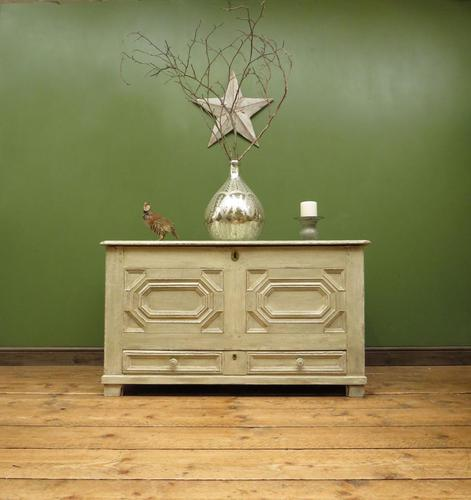 Large Gustavian Style Painted Coffer Blanket Box, Scandanavian Painted Chest (1 of 20)