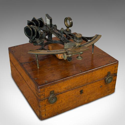 Antique Maritime Sextant, Brass, Admiralty, Naval, Instrument, Victorian c.1900 (1 of 12)