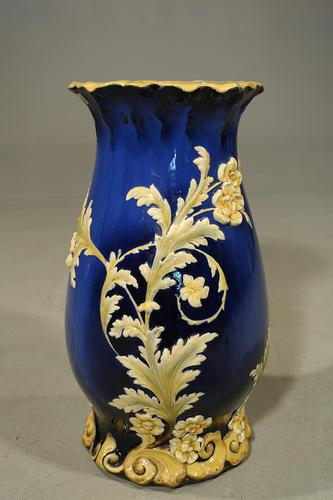 A Rare Late 19th Century Majolica Shaped Pottery Stick Stand (1 of 6)
