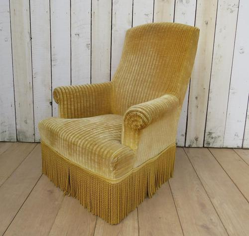 Antique French Tub Armchair for re-upholstery (1 of 8)