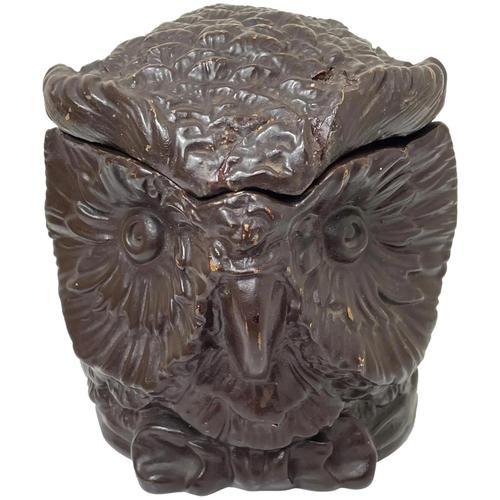 Black Forest Eichwald Earthenware Owl Tobacco Jar (1 of 24)