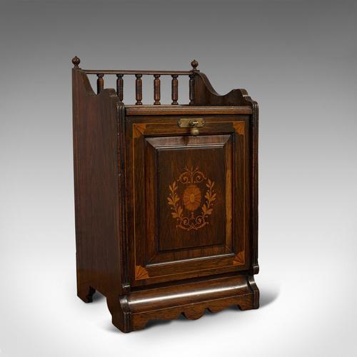 Antique Purdonium, English, Rosewood, Fireside, Cabinet, Edwardian c.1910 (1 of 11)