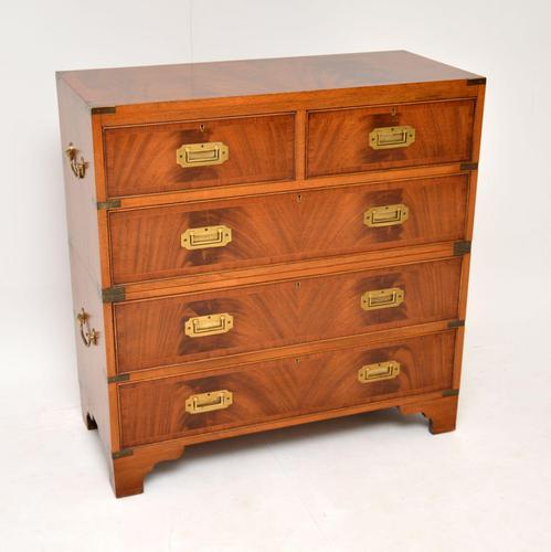 Antique Mahogany  Military Campaign Chest of Drawers (1 of 11)
