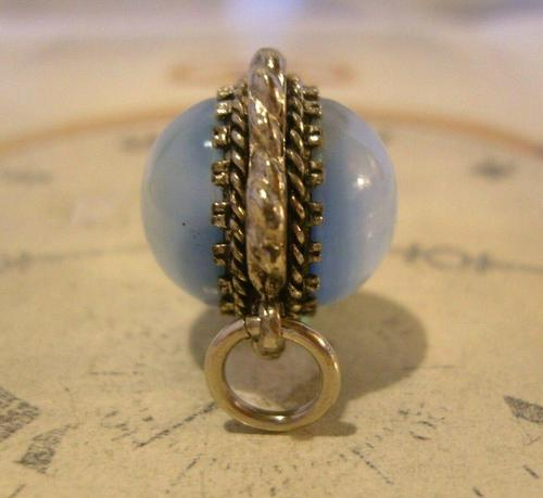 Vintage Pocket Watch Chain Fob 1950s Big Silver Nickel Victorian Revival Fob (1 of 8)