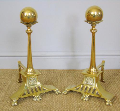 Fine Regency Style Brass Fire Dogs (1 of 6)