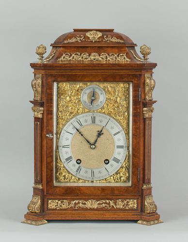 Fine Quality Burr Walnut Bracket / Mantel Clock by Lenzkirch (1 of 15)