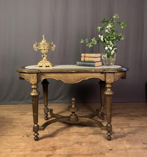 Napoleon III Giltwood Library or Sofa Table (1 of 13)