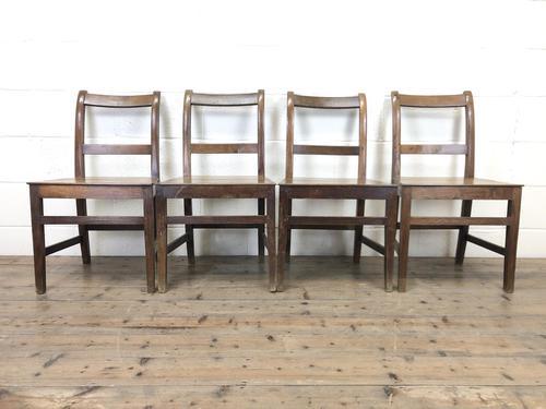 Set of Four Antique Farmhouse Kitchen Chairs (1 of 9)