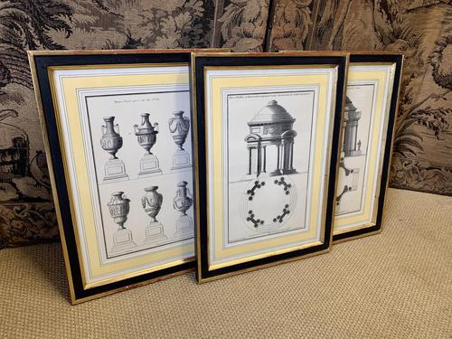Set of Three Architectural Prints (1 of 5)
