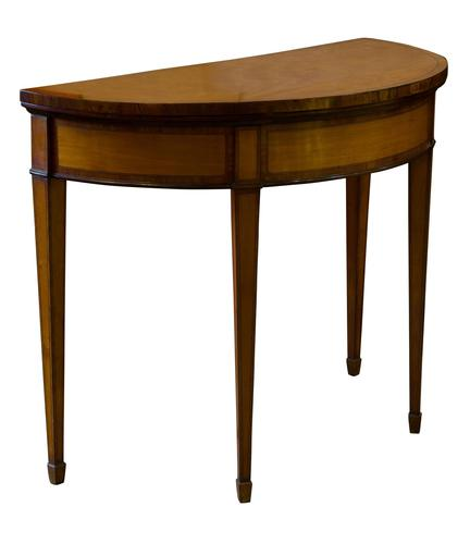 A Satinwood 19th Century Card Table (1 of 8)