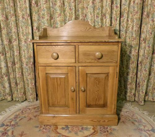 Vintage Stripped Pine Cupboard with Shaped Back (1 of 8)