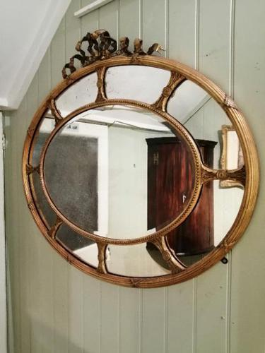 Fine Quality 19th Century Oval Gilt Marginal Mirror (1 of 6)