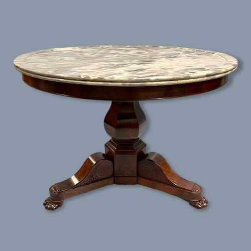 19th Century Marble Top Gueridon Centre Table (1 of 9)