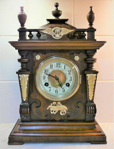 Wonderful 1880 German Striking Mantel Clock by Phillip Hass & Söhne (1 of 7)