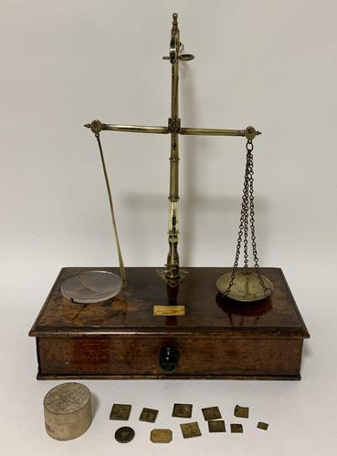 Antique Victorian Apothecary Scales and Weights (1 of 14)
