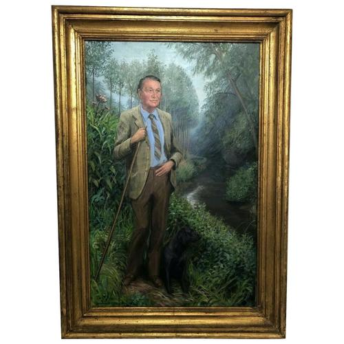 English Portrait Oil Painting Shropshire Titled Gentleman Rosemarie Timmis c.1970 (1 of 10)