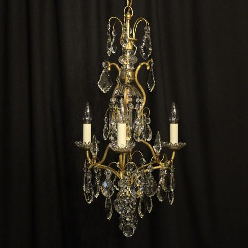 French Gilded Birdcage Antique Chandelier (1 of 8)