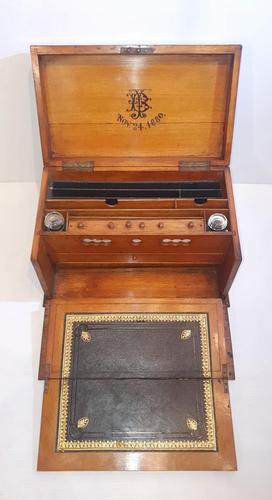 19th Century Oak Stationary Writing Box (1 of 6)