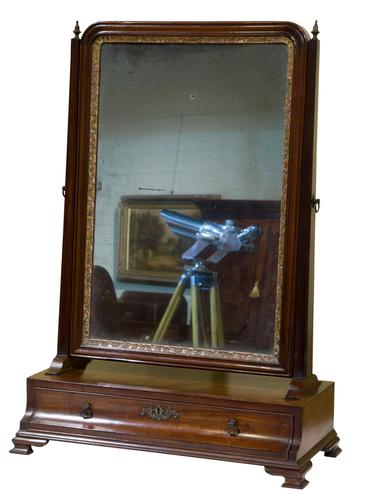 George III Mahogany Toilet Mirror with Single Drawer (1 of 6)