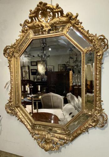 Large Gilt Cushion Mirror (1 of 9)