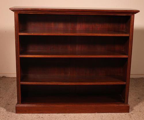 Mahogany Open Bookcase - England c.1900 (1 of 11)
