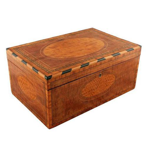 Mahogany & Satinwood Deed Box (1 of 8)