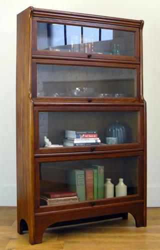 Handsome 1930s Barrister Solicitors Oak Bookcase (1 of 13)