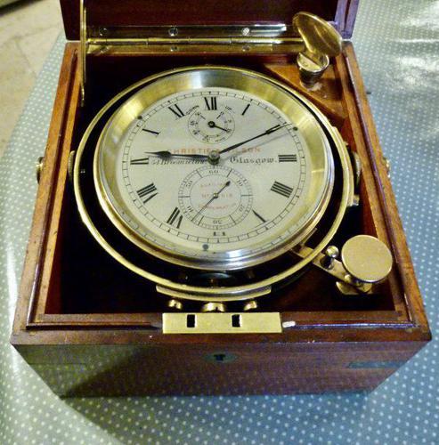 Fine 2-Day Marine Chronometer by Christie & Wilson of Glasgow (1 of 5)