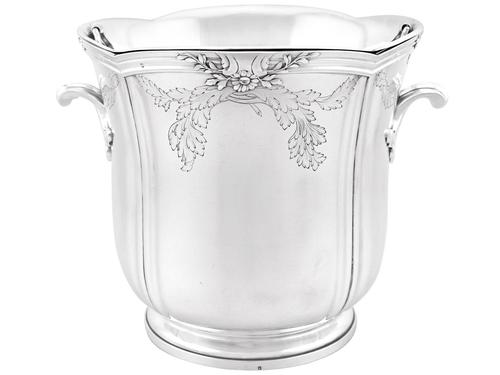 French Silver Wine Cooler - Antique c.1905 (1 of 12)