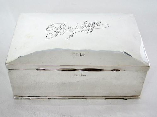 Antique Chester Silver Edwardian Bridge Box (1 of 7)