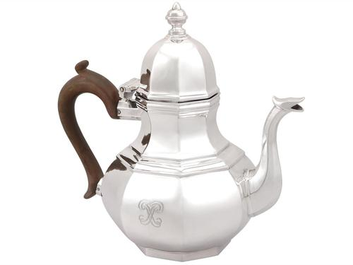 Britannia Standard Silver Teapot - Queen Anne Style - Antique George V 1920 (1 of 9)