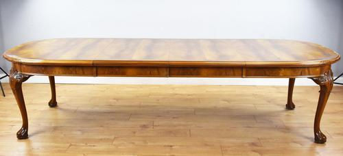 Antique Figured Walnut Extending Dining Table (1 of 11)