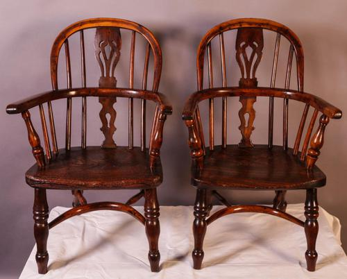 A Near Pair of Childs Yew Wood Windsor chairs (1 of 14)