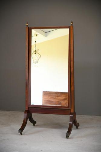Early 19th Century Regency Mahogany Mirror (1 of 12)