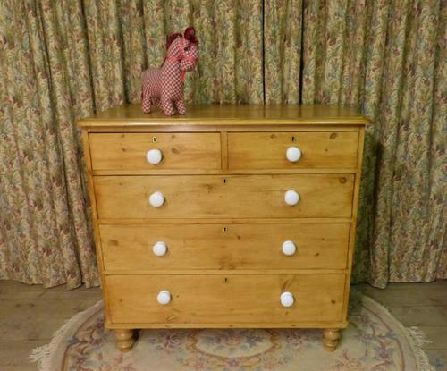 Victorian Stripped Pine Chest of Drawers - Carriage Paid Most Areass (1 of 9)