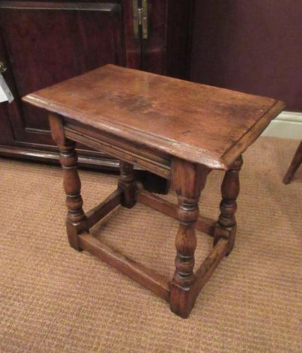 Antique George II Style Oak Joint Stool (1 of 5)