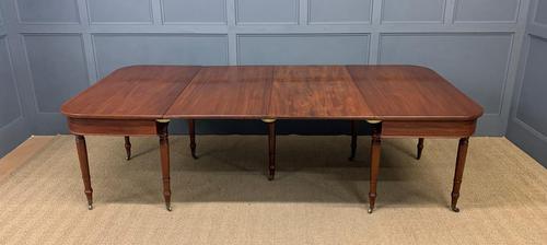 Georgian Mahogany Dining Table - Seats 10 (1 of 17)